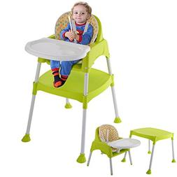 3 in 1 Baby High Chair Convertible Table Seat Booster Toddle