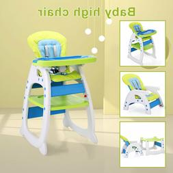 3 in 1 Baby High Chair Convertible Play  Booster Toddler Fee