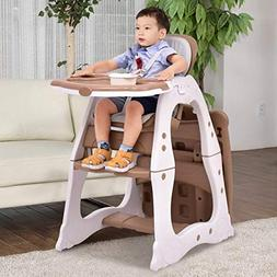 Costzon Baby High Chair, 3 in 1 Infant Table and Chair Set,