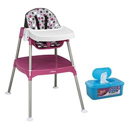 Evenflo 3-in-1 CONVERTIBLE Highchair, Dottie Rose Plus BONUS
