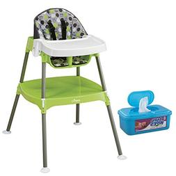 Evenflo 3-in-1 CONVERTIBLE Highchair, Dottie Lime Plus BONUS