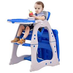 3-in-1 Convertible Play Table Seat Baby High Chair