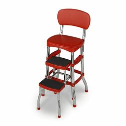 Cosco 11120RED1E Retro Counter Chair/Step Stool, Red