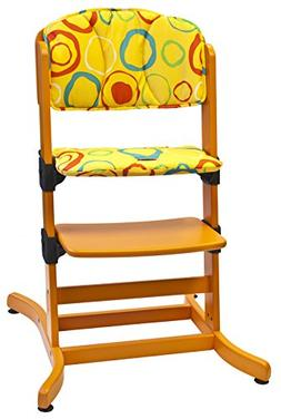 guzzie+Guss 212 Banquet Highchair Pad, Lemon Circles