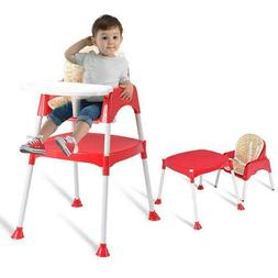 Costway 3 1 Baby High Chair Convertible Table Seat Booster T