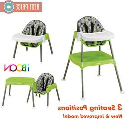 3 in 1 Baby High Chair Booster Seat Table Convertible Feedin