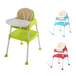 3 in 1 Baby High Chair Convertible Table Seat Toddler Feedin