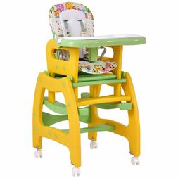 Costway 3 in 1 Baby High Chair Convertible Play Table Seat B