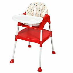 Costway 3 in 1 Baby High Chair Convertible Table Seat Booste