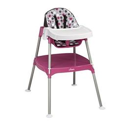 3-in-1 Baby High Chair  Convertible Dottie Rose Pink Toddler