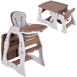Costzon 3 in 1 Baby High Chair Desk Convertible Play Table C