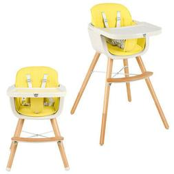 3 in 1 Convertible Wooden High Chair Baby Toddler Highchair