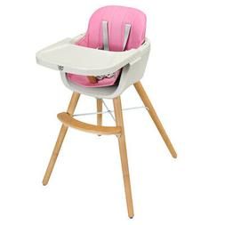 3 in 1 High Chair Baby Toddler Eat Play Convertible Highchai