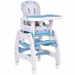 Costzon 3 in 1 Infant High Chair Convertible Play Table Seat