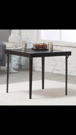 "COSCO 32"" Square Folding Wood table With Vinyl Inset, Espr"