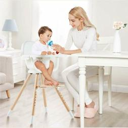 New Baby High Chair Ajustable Swivel Romovable Wooden Toddle