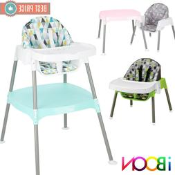 4 in 1 Baby High Chair Booster Seat Table Convertible Feedin