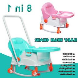 8 in 1 Baby High Chair Convertible Play Table Seat Booster T