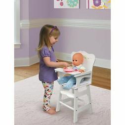 Badger Basket White Rose Doll High Chair , White