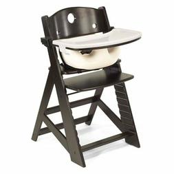 Keekaroo Height Right High Chair Espresso with Vanilla Infan