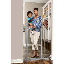 Regalo Deluxe Easy Step Extra Tall Gate Platinum, 29-39 Inch
