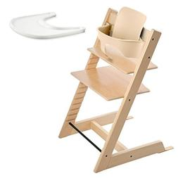Stokke TRIPP TRAPP with Baby Set and Tray - Natural