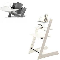 Stokke - Tripp Trapp - High Chair, Baby Set & Tray - White