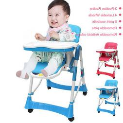 Adjustable Baby Child High Chair Stool Seat Foldable Feeding