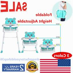Adjustable Folding Baby Feeding High Chair Highchair Infant