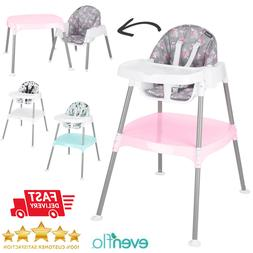 Baby High Chair Adjustable Convertible Table Seat for Child