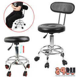 Adjustable Salon Stool Hydraulic Saddle Rolling Chair Facial