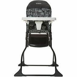 Cosco Adjustable Tray Simple Fold High Chair with Built-In C