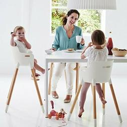 Newest Wooden High Chair Adjustable Safety Baby Highchairs w