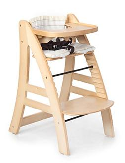 Sepnine Height Adjustable Wooden Highchair Baby High Chair w