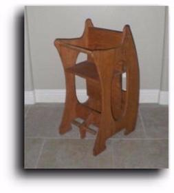 Amish 3 in 1 High Chair - The Baby Sitter Woodworking Plans