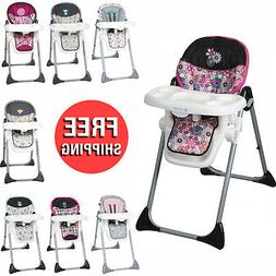 Baby High Chair 3 In 1 Elevated Meal Time Seat Foldable Stur