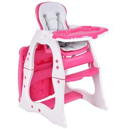 Baby High Chair, 3 in 1 Infant Table and Chair Set, Converti