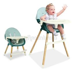 Baby High Chair 4-in-1 Adjustable Tray Kids Feeding Dining B