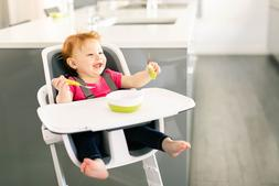 baby high chair magnetic one handed tray
