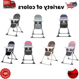 baby high chair seat folding adjustable tray