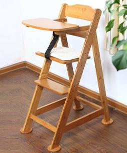 BABY HIGH CHAIR Seat Height Adjustable Bamboo Wooden Chair s