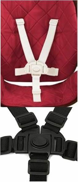 Baby High Chair Safety Strap 5 Point Harness Replacement for