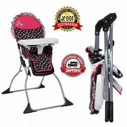 Baby High Chair Simple Fold Adjustable Removable Tray Portab