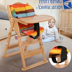 Baby High Chair Wooden Stool Infant Feeding Children Toddler