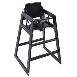 Costzon Baby High Chair Wooden Stool Infant Feeding Children