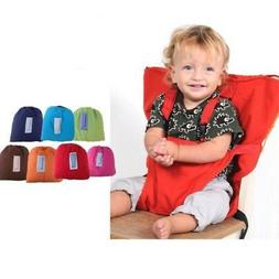 Portable Baby Kids High Chair Seat Harness Strap Home Dining