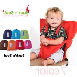Baby Portable High Chair Feeding Seat Infant Travel Seat Saf