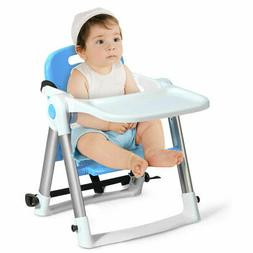 Baby Seat Booster Folding High Chair Home W/ Safety Belt & T