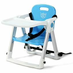 Baby Seat Booster Folding Travel High Chair W/ Safety Belt &