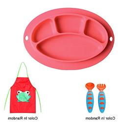 Sealive Baby Silicone Placemat + 1pc Kids Aprons Children Pa